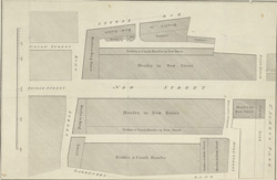 [Plan of the New Street from the Park to Westminster Bridge]